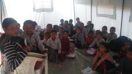 1c Children in temporary tents