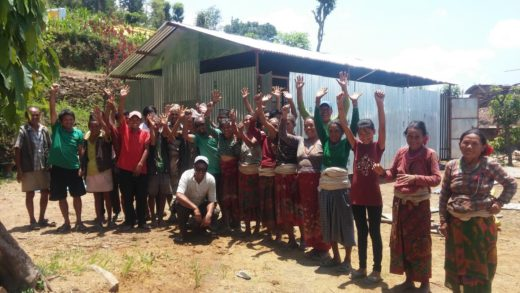 2e Happiness at the new community shelter